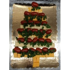 Christmas Tree Meat & Cheese Platter